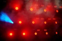 Parecchie luci rosse della fase nello scuro fotografie stock libere da diritti
