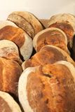 Parecchie pagnotte di pane caldo fresco Fotografia Stock