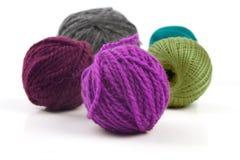 Parecchie palle di lana Fotografie Stock Libere da Diritti