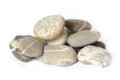 Parecchie pietre isolate Fotografie Stock Libere da Diritti