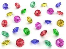 Parecchie pietre preziose multi-coloured Immagine Stock