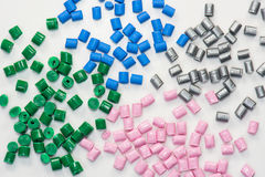 Parecchie resine tinte del polimero Fotografie Stock