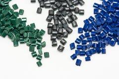 Parecchie resine tinte del polimero Fotografia Stock