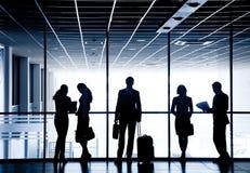 Siluette delle persone di affari Immagine Stock
