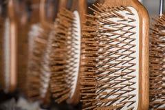 Parecchie spazzole per i capelli Fotografia Stock Libera da Diritti