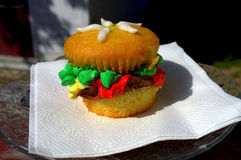 Parece una hamburguesa Imagen de archivo