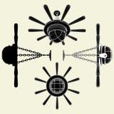 Parecer de la lámpara del lustre el vector 01 del timón ilustración del vector