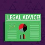 Parecer jurídico do texto da escrita Conselhos profissionais do significado do conceito que é fornecido pelo advogado profissiona ilustração stock
