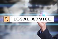 Parecer jurídico ext na tela virtual consultar Advogado na lei advogado, conceito do negócio e da finança imagem de stock