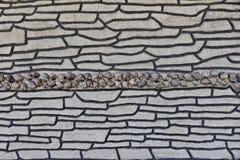 Pared alineada con las cáscaras, fondo texturizado Imagen de archivo libre de regalías