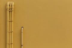 Pared amarilla Foto de archivo libre de regalías