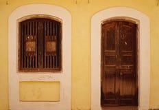 Pared amarilla 7 Imagenes de archivo