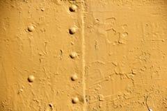 Pared amarilla del hierro Fotos de archivo libres de regalías