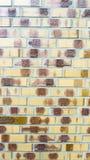 Pared amarilla del ladrillo Imagenes de archivo