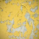 Pared amarilla vieja de la pintura Fotografía de archivo libre de regalías