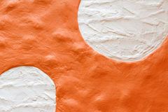 Pared anaranjada Imagen de archivo