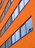 Pared anaranjada Imágenes de archivo libres de regalías