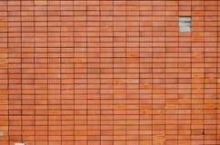 Pared anaranjada del bloque del ladrillo Fotografía de archivo libre de regalías