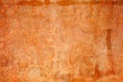 Pared anaranjada del estuco Fotografía de archivo