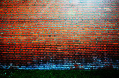 Pared anaranjada vieja del fondo Imagen de archivo libre de regalías