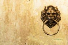 Pared antigua con el león ilustración del vector