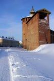 Pared antigua de Kremlin Foto de archivo libre de regalías