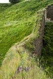 Pared antigua de un castillo de Khotyn Foto de archivo libre de regalías