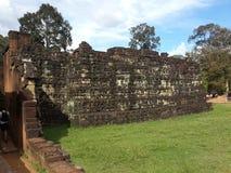 Pared antigua del templo Fotografía de archivo