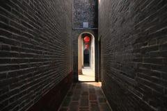 Pared antigua del templo chino Fotografía de archivo