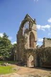 Pared arruinada de la abadía antigua de Dryburgh Foto de archivo libre de regalías