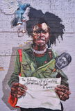Pared Art With un mensaje en Detroit Imágenes de archivo libres de regalías
