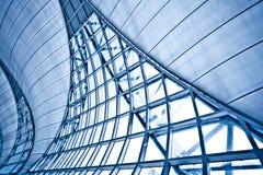 Pared azul abstracta Foto de archivo libre de regalías