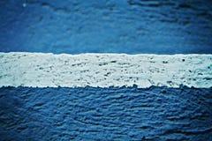 Pared azul blanca Foto de archivo libre de regalías