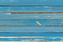 Pared azul de madera del fondo del vintage Imágenes de archivo libres de regalías