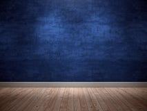 Pared azul del fondo Fotos de archivo