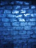 Pared azul del hielo fotografía de archivo libre de regalías