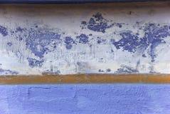 Pared azul en la India Fotografía de archivo