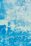 Pared azul Textured con las manchas de óxido Foto de archivo