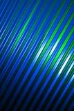 Pared azul, verde, y negra del metal Imagen de archivo