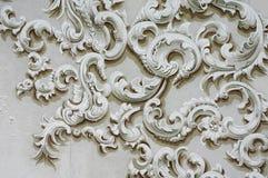 Pared barroca de la decoración del detalle del ornamento Foto de archivo libre de regalías