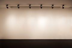 Pared beige de la galería Fotos de archivo libres de regalías