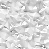 Pared blanca abstracta del polígono Imagenes de archivo