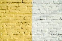 Pared blanca amarilla Imagen de archivo libre de regalías