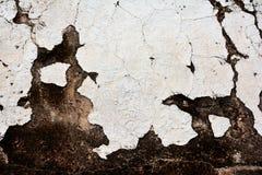 Pared blanca antigua de la arcilla Fotografía de archivo