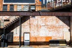 Pared blanca de la puerta Foto de archivo