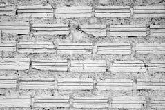 Pared blanca de los ladrillos para el fondo Imágenes de archivo libres de regalías