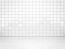 Pared blanca del azulejo Imágenes de archivo libres de regalías