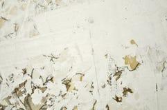 Pared blanca del estuco de la renovación Imagen de archivo