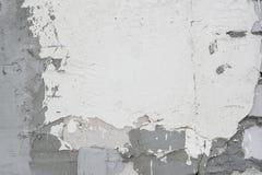 Pared blanca del fondo después del hormigón de la piedra de la reparación fotos de archivo libres de regalías