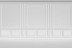 Pared blanca en estilo clásico Imagen de archivo libre de regalías
